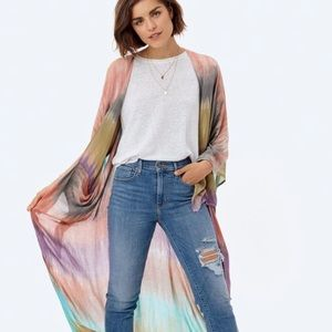 Love Stitch Pandora Tie Dye Maxi Kimono